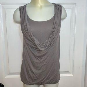 LOFT gray cowl neck sleeveless top